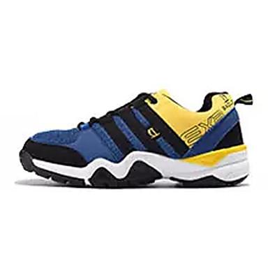 Homens sapatos Couro Ecológico Primavera Outono Tênis Corrida Cadarço para Azul Escuro Cinzento Escuro Branco/Preto