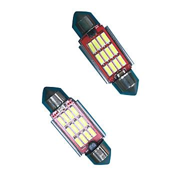 2ks 6w vysoká jasná světelnost festoon led žárovka pro SPZ žárovka led čtecí lampa led šířka žárovka bílá barva