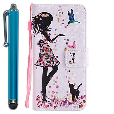 Capinha Para Samsung Galaxy J7 Prime J5 Prime Porta-Cartão Carteira Com Suporte Flip Estampada Capa Proteção Completa Mulher Sensual