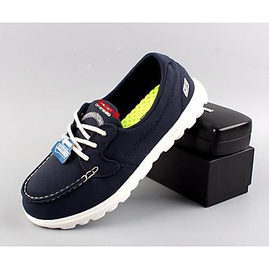 Miehet Kengät PU Kevät Kesä Comfort Oxford-kengät Käyttötarkoitus Kausaliteetti Laivaston sininen