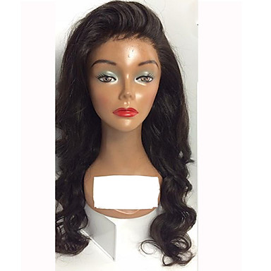 Human Hair Glueless Lace Front / Lace Front Wig Body Wave Wig 130% Natural Hairline / African American Wig / 100% Hand Tied Women's Short / Medium Length / Long Human Hair Lace Wig