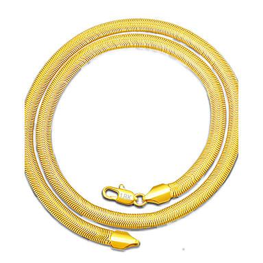 Homens Gargantilhas - Chapeado Dourado Estilo simples Dourado Colar Jóias Para Presente, Diário, Casual