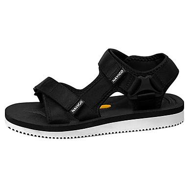 Herren Schuhe Stoff Frühling Komfort Sandalen Für Normal Schwarz Schwarz/weiss