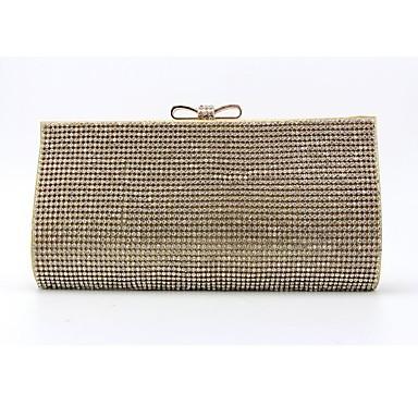Damen Taschen PU Abendtasche Kristall Verzierung für Veranstaltung / Fest Ganzjährig Gold Schwarz Silber