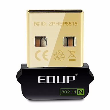 Edup usb wireless wifi adapter 150mbps wirelee cartão de rede ep-n8508gs