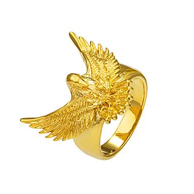 Homens Mulheres Anel Anel de declaração Dourado Cobre Eagle Animal Animal Básico Fashion Góticas Rock Punk Presentes de Natal Ocasião