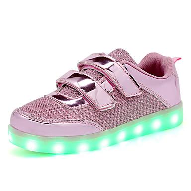 Lapset Lenkkitossut Välkkyvät kengät Paljetti Kevät Syksy Kausaliteetti Kävely LED Tasapohja Kulta Pinkki Tasapohja