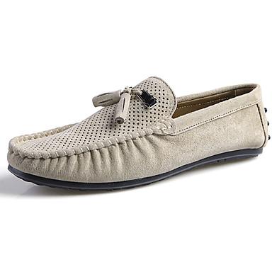 Miesten kengät Kumi Kevät Syksy Mokkasiinit Oxford-kengät Kävely varten ulko- Harmaa Vihreä Khaki