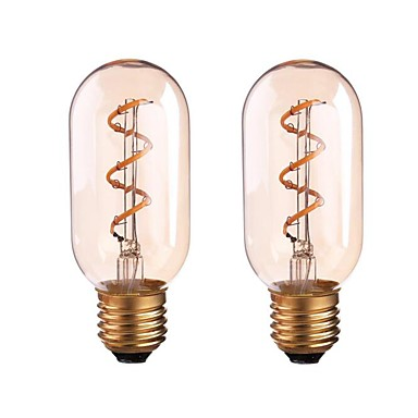 ONDENN 2pcs 4W 350 lm LED Filament Bulbs P45 1 leds COB Dimmable Warm White AC 85-265V