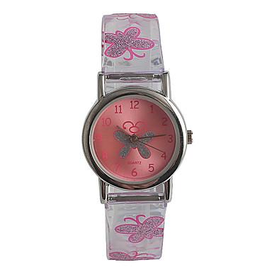 f44638fc5 سيدات ساعة المعصم ياباني كوارتز ياباني ستانلس ستيل الوردي / مماثل كاجوال  موضة - شفاف
