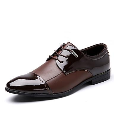 Pánské Obuv Kůže mikrovlákno Jaro Podzim Bullock boty Společenské boty Módní obuv Oxfordské Chůze Nýty Rozdělení pro Svatební Kancelář a