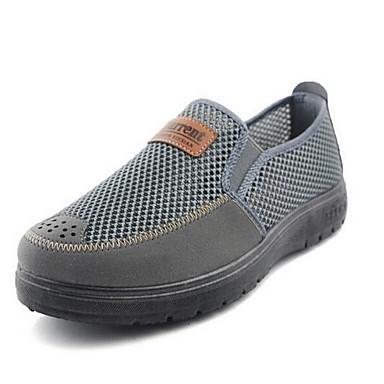 Homens sapatos Tule Primavera Verão Conforto Mocassins e Slip-Ons Caminhada Combinação para Casual Escritório e Carreira Cinzento Camel