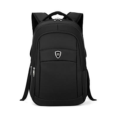 Homens Bolsas Tecido Oxford mochila Suave para Escritório / Carreira Casual Formal Viajar Ao ar livre Todas as Estações Preto