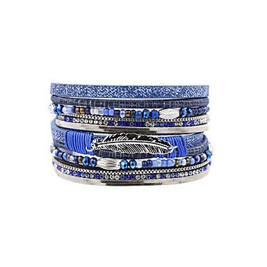 Dámské Kožené náramky Šperky Vintage Cikánské turečtina Módní Kožené Obdélníkový Šperky Vánoční dárky Svatební Párty Zvláštní
