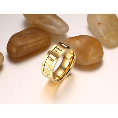 Pánské Prsten Šperky Přizpůsobeno Vintage Módní Titanová ocel Kulatý Šperky Svatební Párty Denní