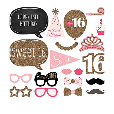 Különleges alkalom / Születésnap / Születésnapi buli Anyag / Kartonpapír Esküvői dekoráció Ünneő Tavasz, Ősz, Tél, Nyár