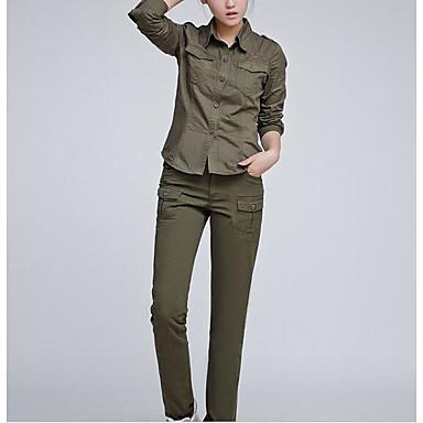 Mulheres Camisa de Trilha Ao ar livre Inverno Shorts Calças