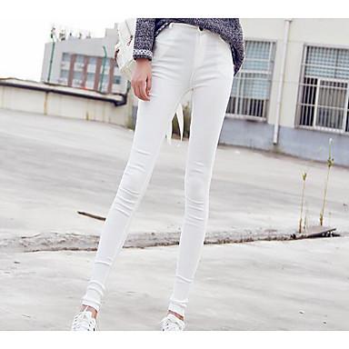 Dámské Jednolitý Jednobarevné,Legging Bavlna