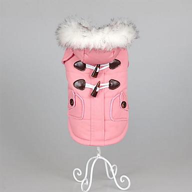 Cachorro Casacos Roupas para Cães Sólido Rosa claro Khaki Algodão Plumagem Ocasiões Especiais Para animais de estimação Homens Mulheres