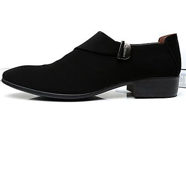 Miehet kengät Mokkanahka Kevät Comfort Mokkasiinit Käyttötarkoitus Kausaliteetti Musta