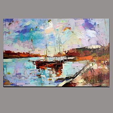 Maalattu Abstrakti Retro 1 paneeli Kanvas Hang-Painted öljymaalaus For Kodinsisustus
