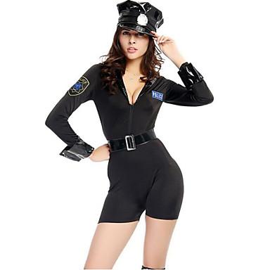Policial Fantasias de Cosplay Mulheres Dia Das Bruxas Carnaval Ano Novo Festival / Celebração Trajes da Noite das Bruxas Moderno
