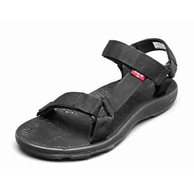 Miehet Kengät Tyll Kangas Kevät Comfort Sandaalit Käyttötarkoitus Kausaliteetti Musta