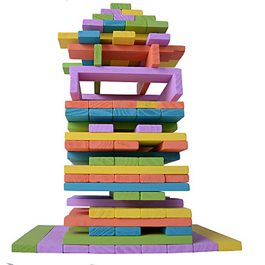 Bausteine Stapelspiele Turmbau-Sets Spielzeuge Quadratisch Gleichgewichtspunkt Holz Kinder Stücke