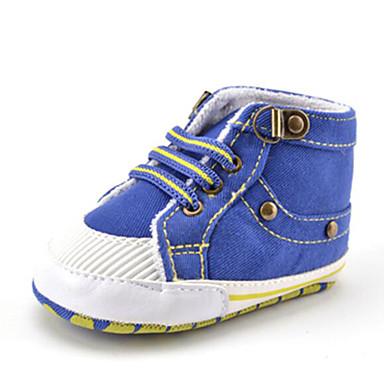 Para Meninos Sapatos Sarja Outono Primeiros Passos Tênis Miçangas / Elástico para Crianças Azul / Festas & Noite