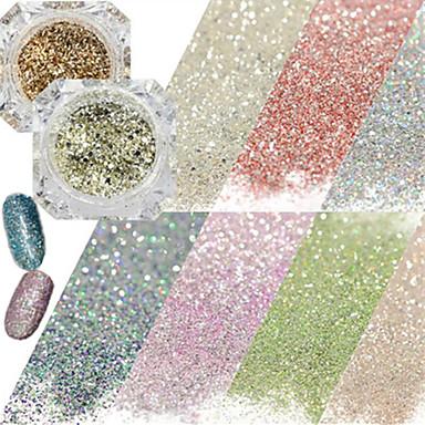 1 pcs Glitter Powder / Glitter na nehty Zářivé / Flitry Design nehtů
