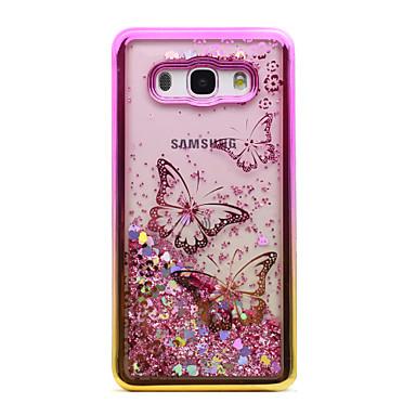 Capinha Para Samsung Galaxy J5 (2016) J3 (2016) Galvanizado Liquido Flutuante Transparente Estampada Capa traseira Borboleta Glitter