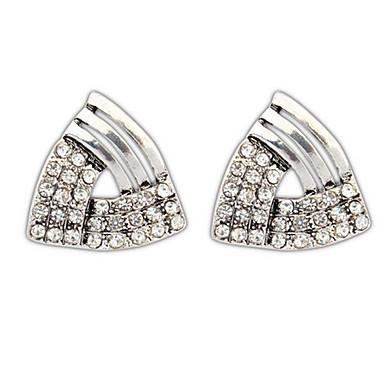 Damen Ohrstecker Tropfen-Ohrringe Kreolen Strass Personalisiert Religiöser Schmuck Geometrisch Kreisförmiges Einzigartiges Design Logo