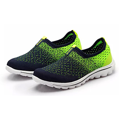 Homens sapatos Tule Primavera / Outono Conforto Mocassins e Slip-Ons Caminhada Cinzento / Verde / Azul