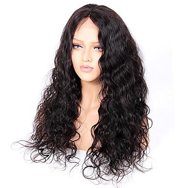 Remi-Haar Vollspitze Perücke Große Wellen 130% Dichte 100 % von Hand geknüpft Afro-amerikanische Perücke Natürlicher Haaransatz Kurz