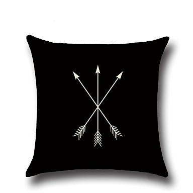 1 ks Bavlna / Len Povlak na polštář Polštářový potah, Geometriské vzory Módní Novinka Geometrik Vintage Na běžné nošení Evropský