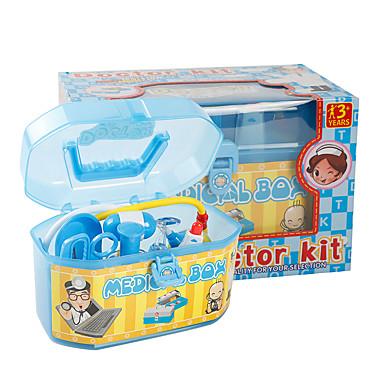 Kits médicos Brinquedos de Faz de Conta Profissões e Faz de Conta Brinquedos Médico Plásticos Crianças Peças