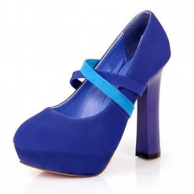 Mulheres Sapatos Sintético / Couro Ecológico Primavera / Outono Conforto / Inovador Saltos Caminhada Salto Robusto Ponta Redonda Elástico