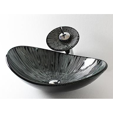 Moderne Rechteckig Material der Becken ist Hartglas Waschbecken für Badezimmer