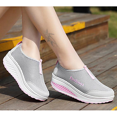 Women's Shoes Tulle Spring Comfort Sneakers Flat Heel for Outdoor Gray / Purple / Fuchsia