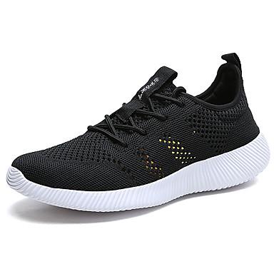 Miesten kengät PU Kevät Syksy Comfort Urheilukengät Kävely Solmittavat varten Urheilullinen Musta Sininen