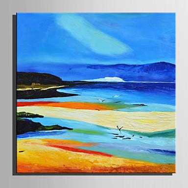Pintados à mão Paisagem Quadrada, Retro Tela de pintura Pintura a Óleo Decoração para casa 1 Painel