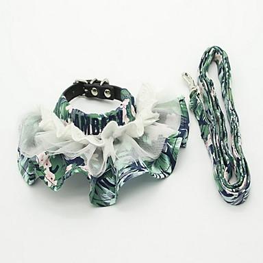 Halsbänder Leinen Klappbar Einstellbar Blume Spitze Stoff