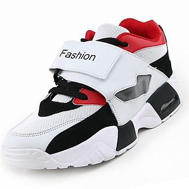Homens sapatos Couro Ecológico Primavera Verão Tênis Basquete para Branco Preto Vermelho