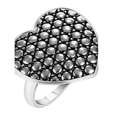 Damen Aleación Herz Ring Statement-Ring - Geometrische Form Herz Personalisiert Luxus Einzigartiges Design Retro Erklärung Euramerican