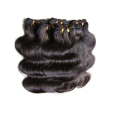 Brazilian Hair Body Wave 8A Human Hair Natural Color Hair Weaves / Hair Bulk Human Hair Weaves Human Hair Extensions