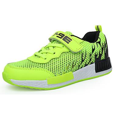 Para Meninos sapatos Couro Ecológico Primavera Outono Conforto Tênis Corrida Cadarço para Atlético Azul Escuro Verde Azul