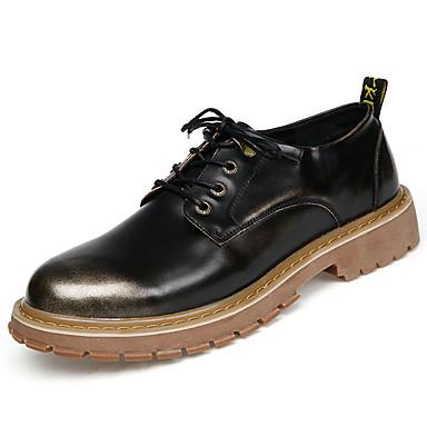 Miehet kengät PU Kevät Kesä Comfort Lenkkitossut Solmittavat Käyttötarkoitus Kausaliteetti Juhlat Kulta Musta