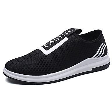 Miesten kengät Kangas Kevät Syksy Comfort Mokkasiinit varten Kausaliteetti Musta