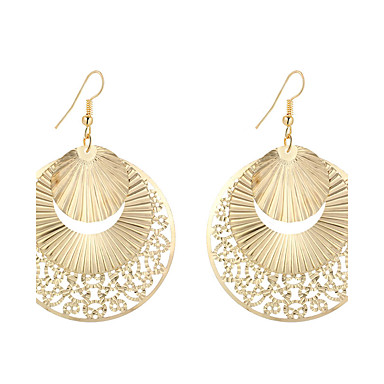 Women's Hollow Out Drop Earrings Pendant - Silver Plated, Gold Plated Flower Geometric, Unique Design, Dangling Style Gold / Silver For Christmas Gifts Wedding Party