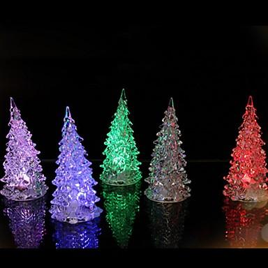 1pcs 7 cores mudando levou árvore luz da noite luz decoração da casa presente ano colorido suprimentos de decoração colorida